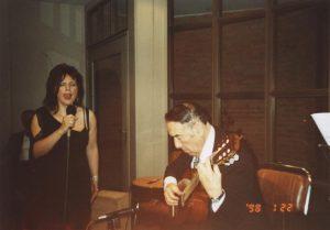 2004 - Con Anibal Arias en la Casa del Tango - Despedida antes de partir de gira por Alemania