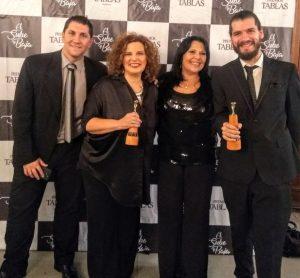2019 Premios tablas. Junto a Lili Cuomo, Maxi Chaves