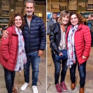 2019 - Febrero. Mar del Plata junto a Edgardo Moreira y Josefina.