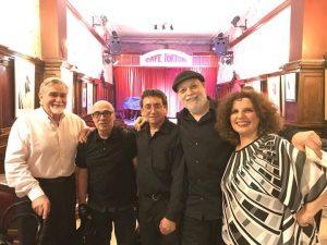 2018 Cafe Tortoni junto a Lucho Servidio, Osvaldo Avena y Samy Mielgo
